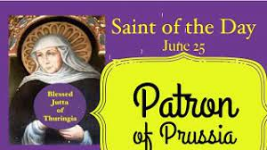 Blessed Jutta of Thuringia, June 25, Daily Saint, Prussia, - YouTube