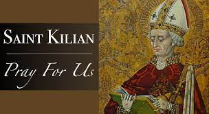 Saint Kilian Medal with Necklace | Catholic Faith Store
