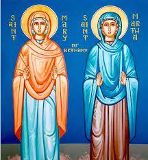 St. Mary & St. Martha of Bethany by Nicholas Papas | Saint martha, Orthodox  icons, Mary and martha