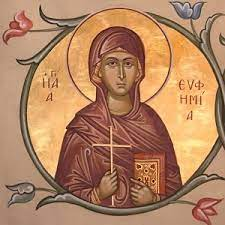 September 16: Euphemia the Holy and Great Martyr | Greek Orthodox  Archdiocese of Canada
