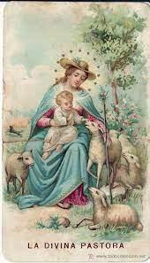 La Divina Pastora | Holy cards, The good shepherd, Vintage holy cards